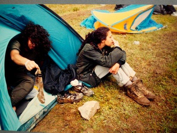 Alp Solak çadırdan çıkarken
